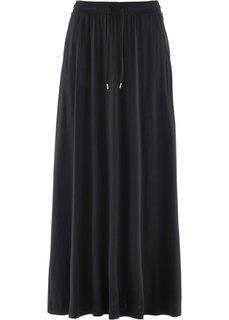 Трикотажная юбка (черный) Bonprix