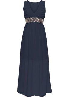 Вечернее платье с аппликацией (темно-синий) Bonprix