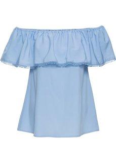 Блуза с открытыми плечами (нежно-голубой) Bonprix