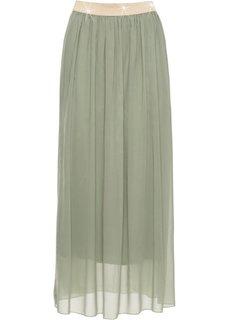 Длинная юбка на поясе с люрексом (светло-зеленый) Bonprix