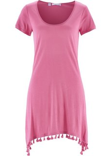 Футболка в смеси льна и вискозы (ярко-розовый) Bonprix