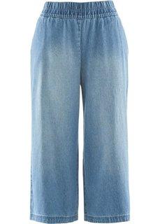 Джинсы-кюлоты дизайна Maite Kelly (голубой) Bonprix