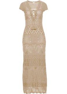 Вязаное платье (натуральный) Bonprix