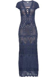 Вязаное платье (индиго) Bonprix