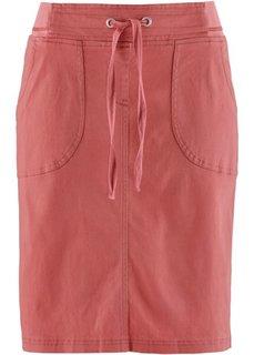 Эластичная юбка-карандаш (бордово-коричневый) Bonprix