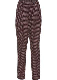 Легкие брюки (красный с рисунком) Bonprix