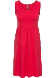 Трикотажное платье (красный) Bonprix