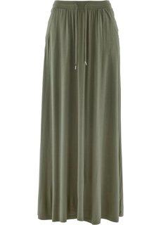 Трикотажная юбка (оливковый) Bonprix