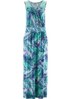 Трикотажное платье макси (нежно-бирюзовый с рисунком) Bonprix
