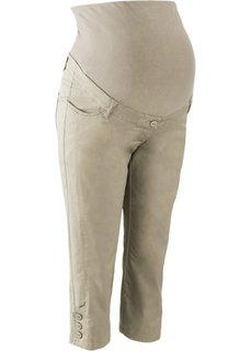 Для будущих мам: брюки-капри (новый хаки) Bonprix
