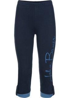Капри-легинсы с имитацией двухслойности (темно-синий/синий джинсовый) Bonprix