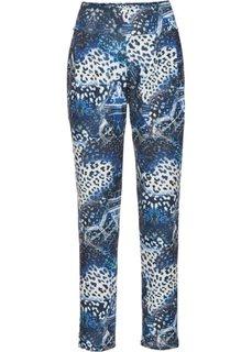 Трикотажные брюки (черный/синий с рисунком) Bonprix