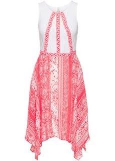 Летнее платье (нежный ярко-розовый/белый с узором) Bonprix