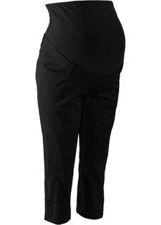 Для будущих мам: брюки-капри (черный) Bonprix