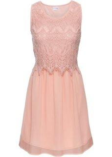 Платье с кружевной отделкой (винтажно-розовый) Bonprix