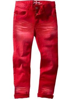 Брюки Slim Fit с потертостями, Размеры 116-170 (темно-красный) Bonprix