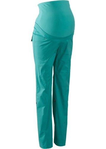 Для будущих мам: брюки с отворотами (зеленый океан)