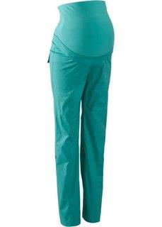 Для будущих мам: брюки с отворотами (зеленый океан) Bonprix