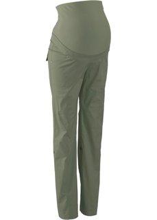 Для будущих мам: брюки с отворотами (оливковый) Bonprix