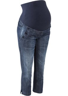 Джинсы для беременных длины 3/4 (темно-синий «потертый») Bonprix