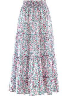Макси-юбка дизайна Maite Kelly (розовый в цветочек) Bonprix