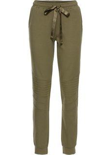 Трикотажные брюки в байкерском стиле (хаки) Bonprix
