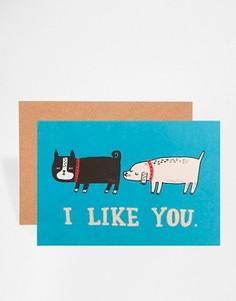Открытка I Like You Ohh Deer - Мульти