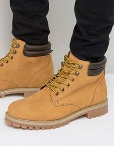 Нубуковые ботинки Jack & Jones Stoke - Рыжий