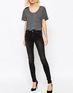 Суперстретчевые джинсы скинни Weekday - Серый