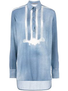 рубашка с полосатой отделкой Ermanno Scervino