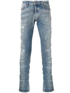distressed slim-fit jeans Diesel Black Gold