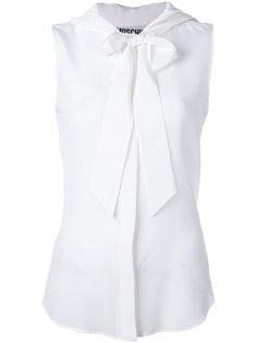 прозрачная блузка с бантом Moschino
