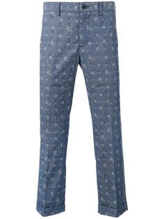 брюки с принтом Aloha Sacai