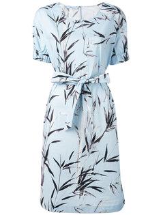 платье с поясом и растительным принтом Blumarine