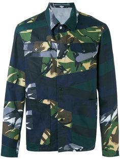 куртка с камуфляжным принтом Broken Kenzo