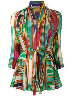 блузка с запахом и принтом  Etro