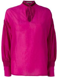 блузка с вырезом-капелькой Etro