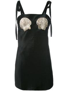 платье с вышивкой  Attico