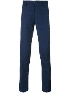жатые брюки слим Incotex