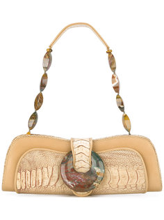 сумка с панелями из экзотической кожи  Giorgio Armani Vintage