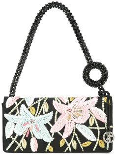 клатч с цветочной вышивкой Giorgio Armani Vintage