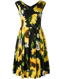 платье с цветочным рисунком Dolce & Gabbana