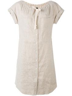 платье-рубашка с завязками у шеи Theory