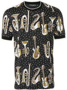 футболка с музыкальными инструментами Dolce & Gabbana