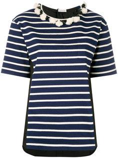 полосатая футболка с короткими рукавами Moncler