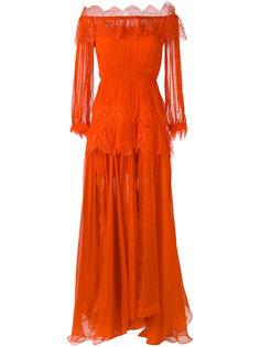 длинное платье Ralu с кружевными панелями  Maria Lucia Hohan