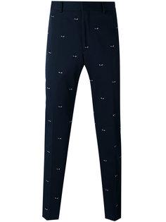 классические брюки с вышивкой Fendi