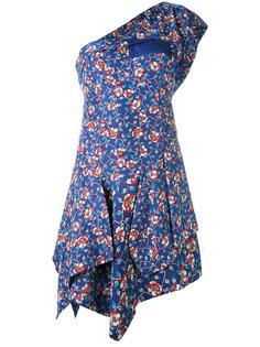 платье на одно плечо с цветочным принтом Isabel Marant