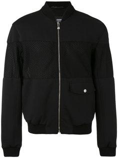 куртка-бомбер  с сетчатыми панелями Versus