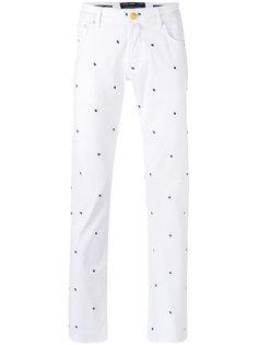 брюки стандартного кроя с вышивкой Jacob Cohen